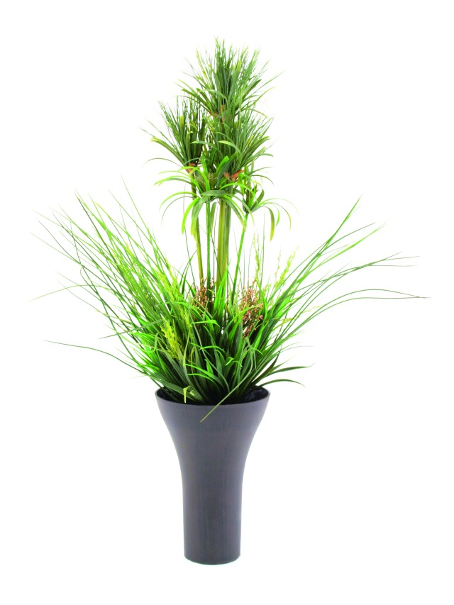 Billede af Kunstig Mixed grass bush, 90cm