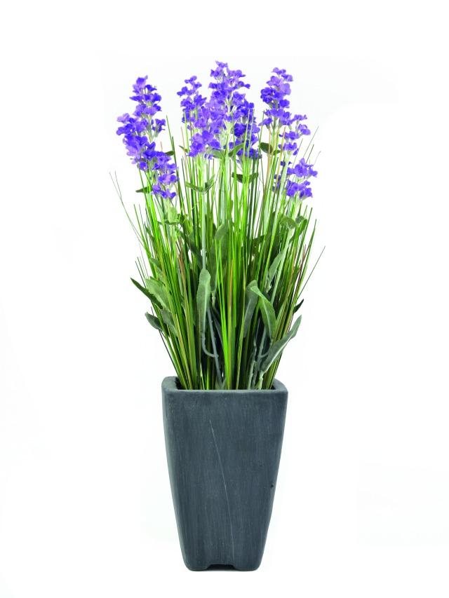 Billede af Kunstig Lavender, purple, in pot, 45cm