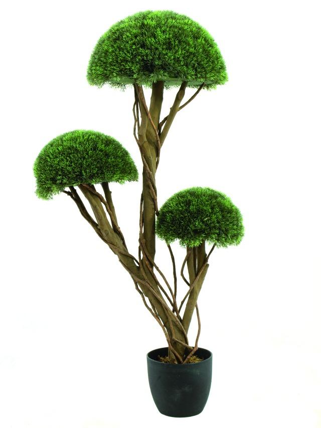 Billede af Kunstig Grass half ball tree, 126cm