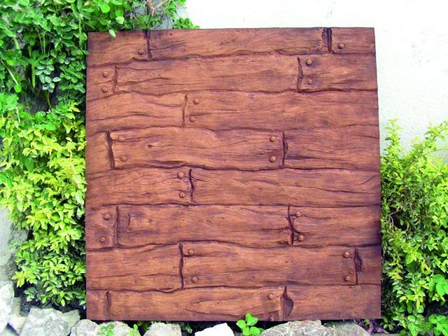 Billede af Kunstig Wallpanel, wooden, 100x100cm