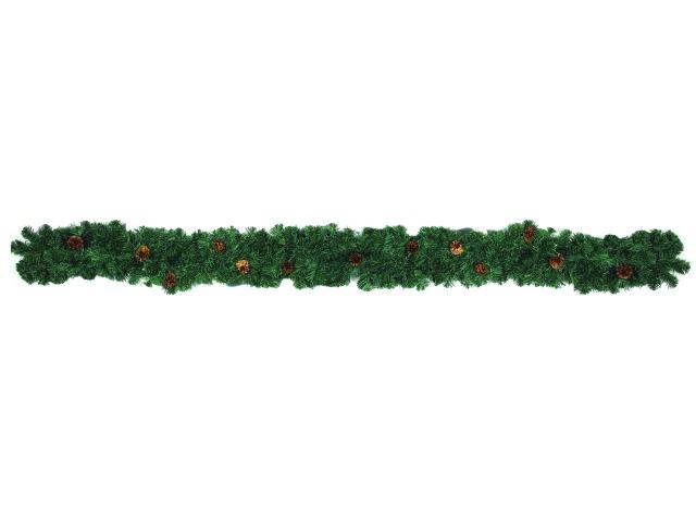Billede af Noble pine garland with fir cones, 270cm