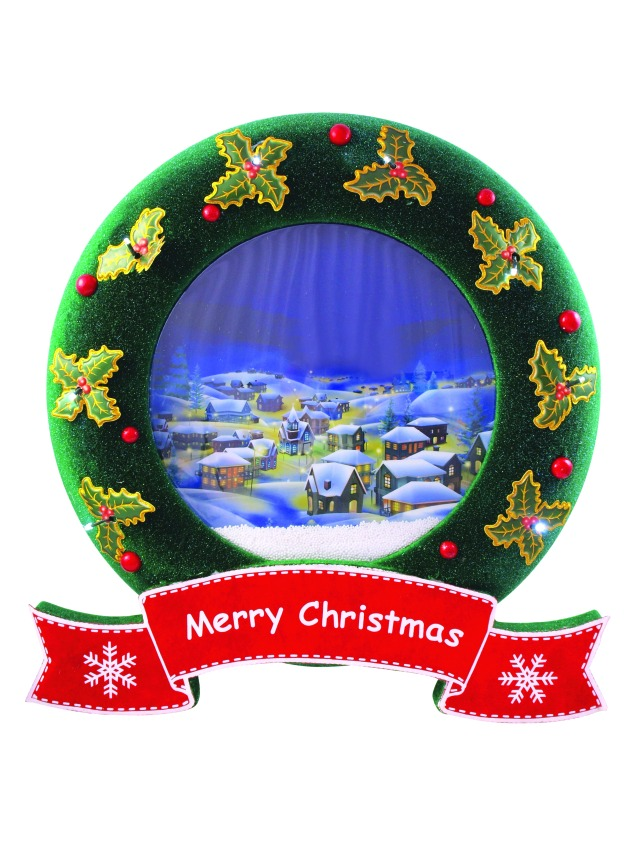 Snowing Christmas wreath