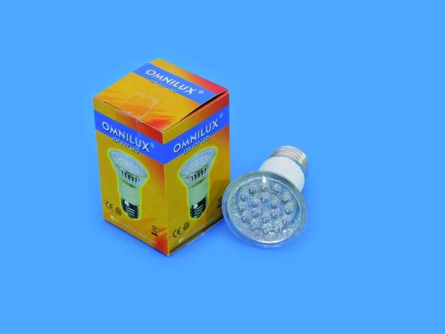 Billede af OMNILUX JDR 230V E27 18 LED UV-aktiv