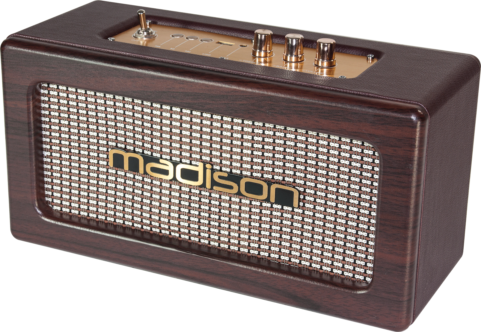 Billede af RECHARGEABLE VINTAGE SPEAKERBOX WITH USB & BLUETOOTH 2 x 10W