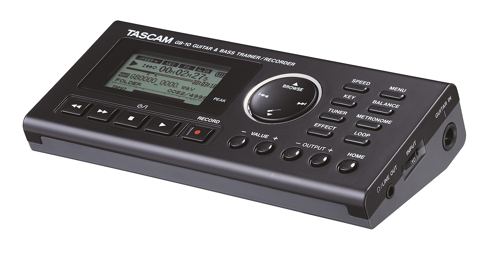 Billede af Tascam GB-10 alt-i-en bas og guitar trainer/recorder