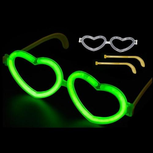 Billede af Knæklys briller Hjerteformet 100 stk.