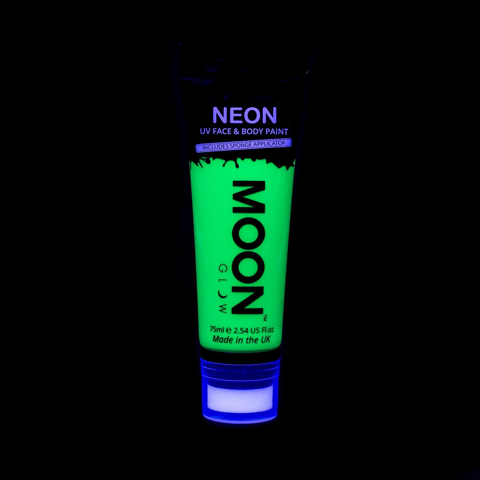Billede af UV Krops- og ansigtsmaling 75 ml. Grøn