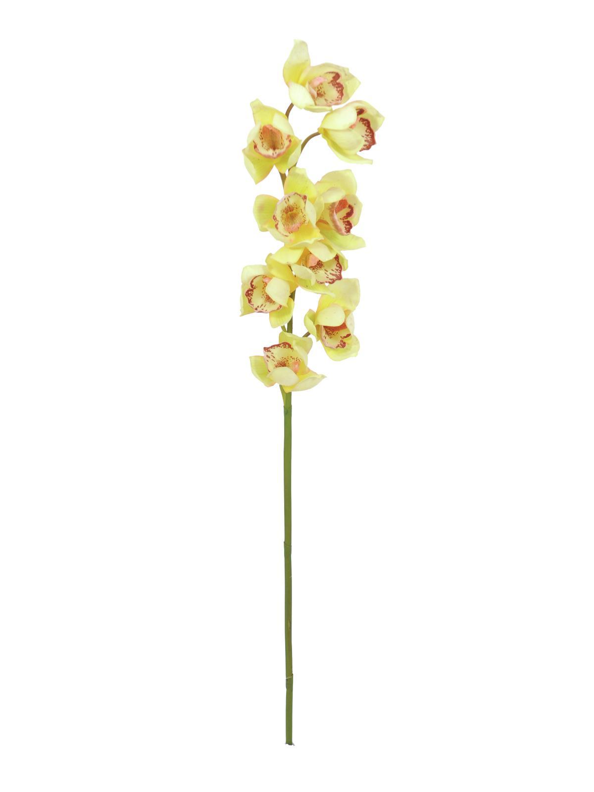 Billede af Kunstig Cymbidiumspray, yellow, 90cm