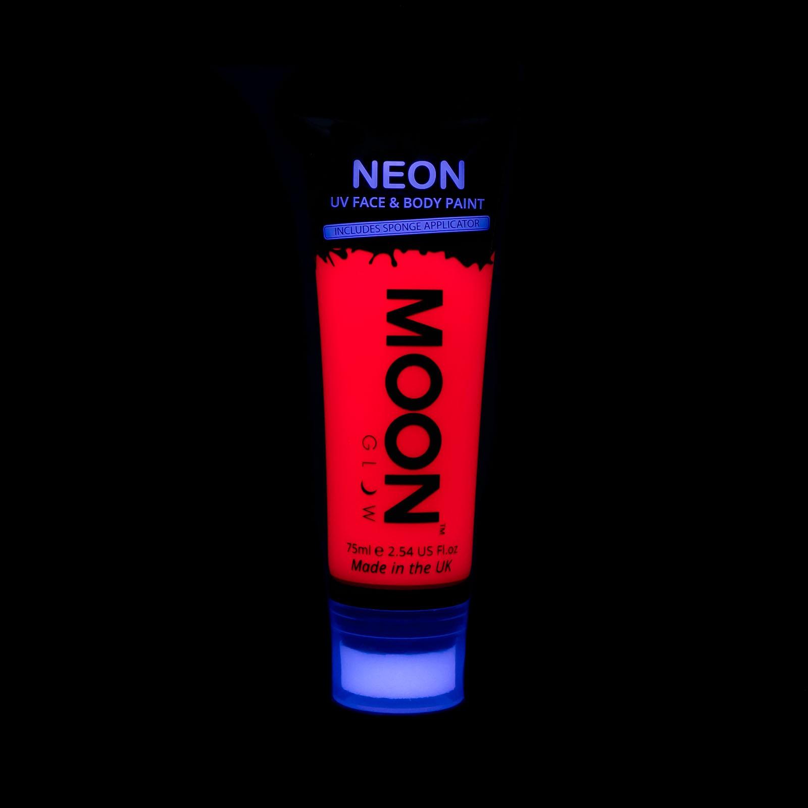Billede af UV Krops- og ansigtsmaling 75 ml. Rød