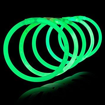 Billede af Knæklys armbånd, ensfarvede, 100 stk. Grøn