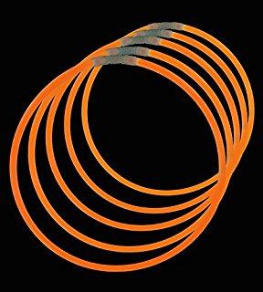 Billede af Knæklys armbånd, ensfarvede, 100 stk. Orange