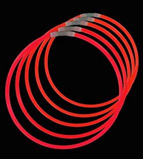Billede af Knæklys armbånd, ensfarvede, 100 stk. Rød
