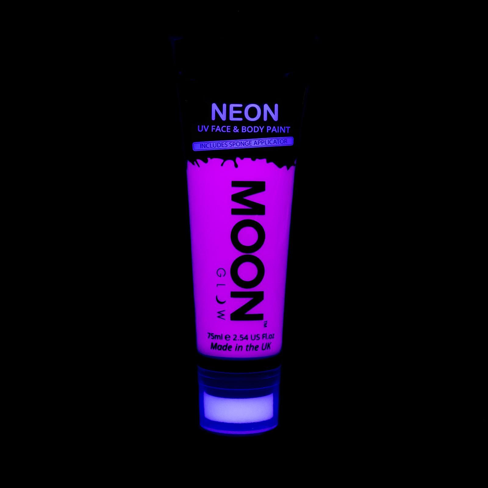 Billede af UV Krops- og ansigtsmaling 75 ml. Lilla