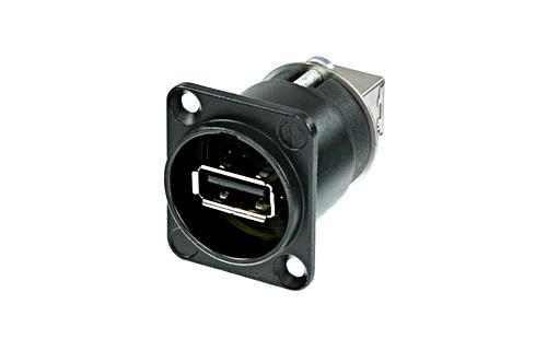 Billede af Neutrik Chassis Stik USB Sort