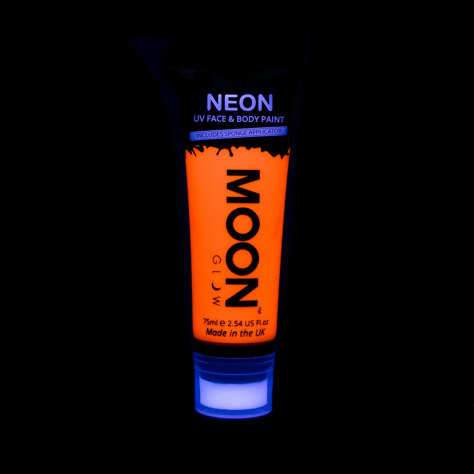 Billede af UV Krops- og ansigtsmaling 75 ml. Orange
