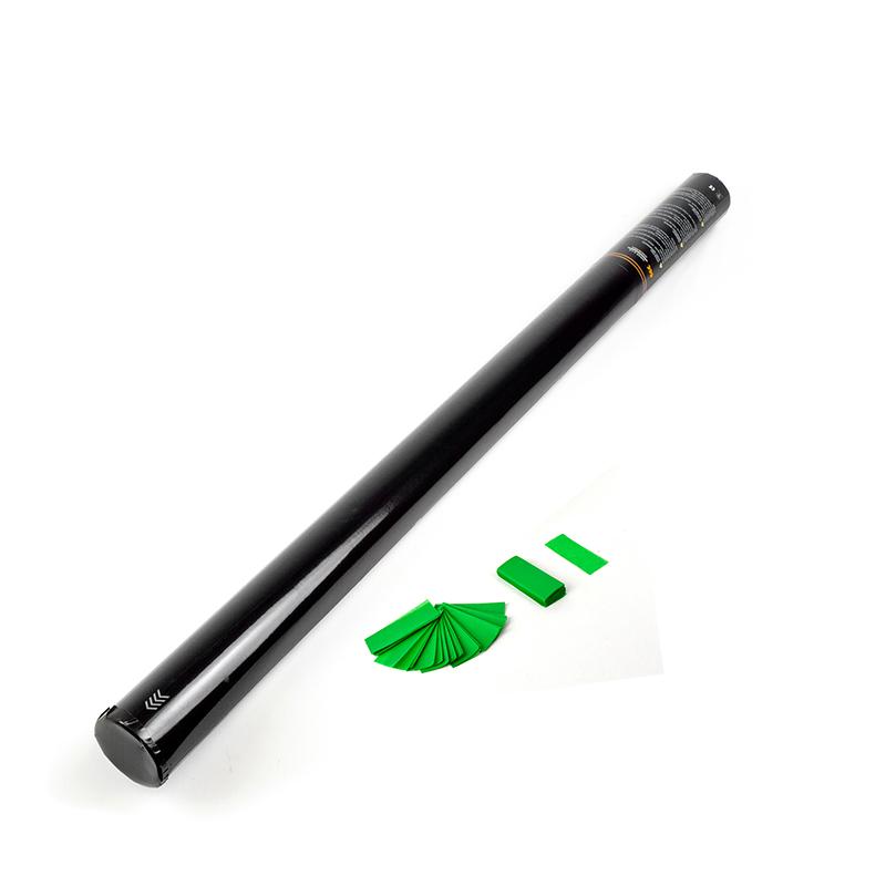 Billede af Konfettirør med papir konfetti 80 cm. Mørk Grøn