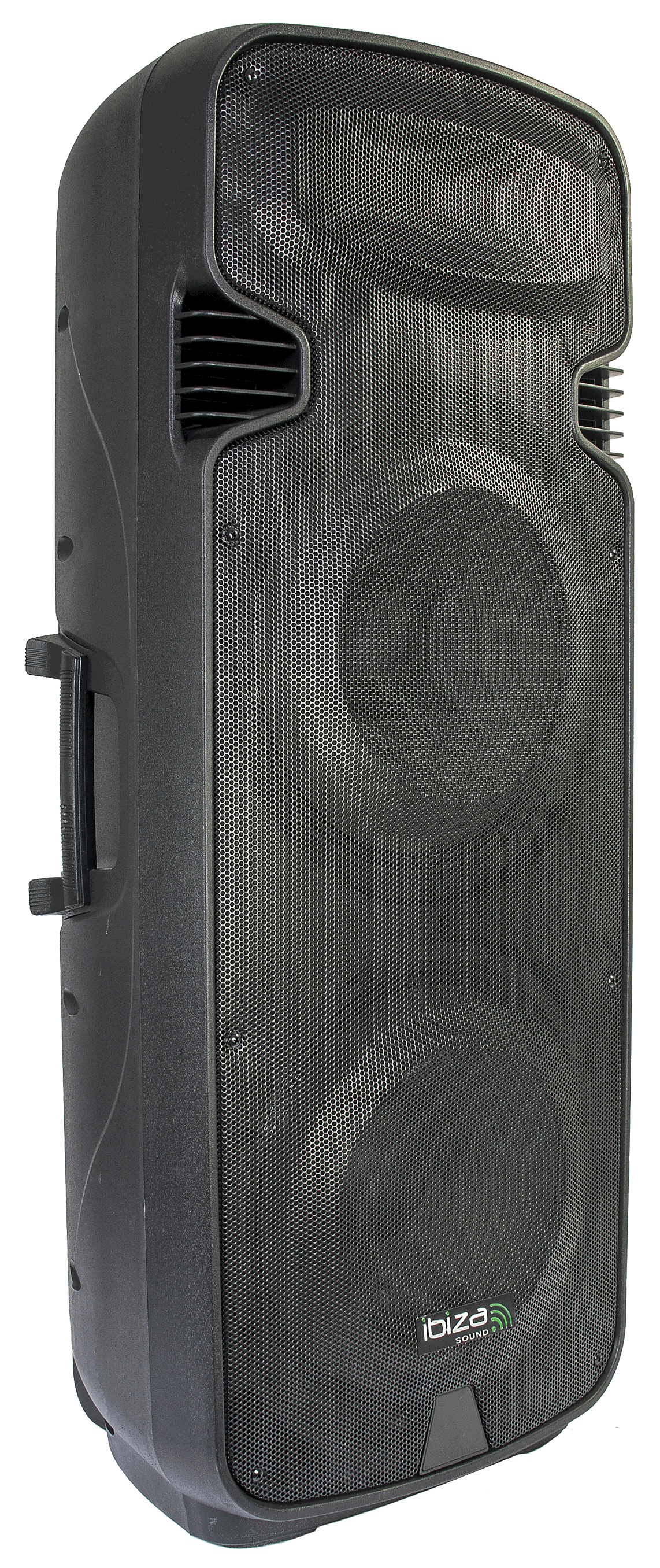 """Image of   PORTABLE STAND-ALONE PA SYSTEM 2 x 15""""/38cm WITH USB, SD, BT, VOX & 2 X VHF MICROPHONES"""