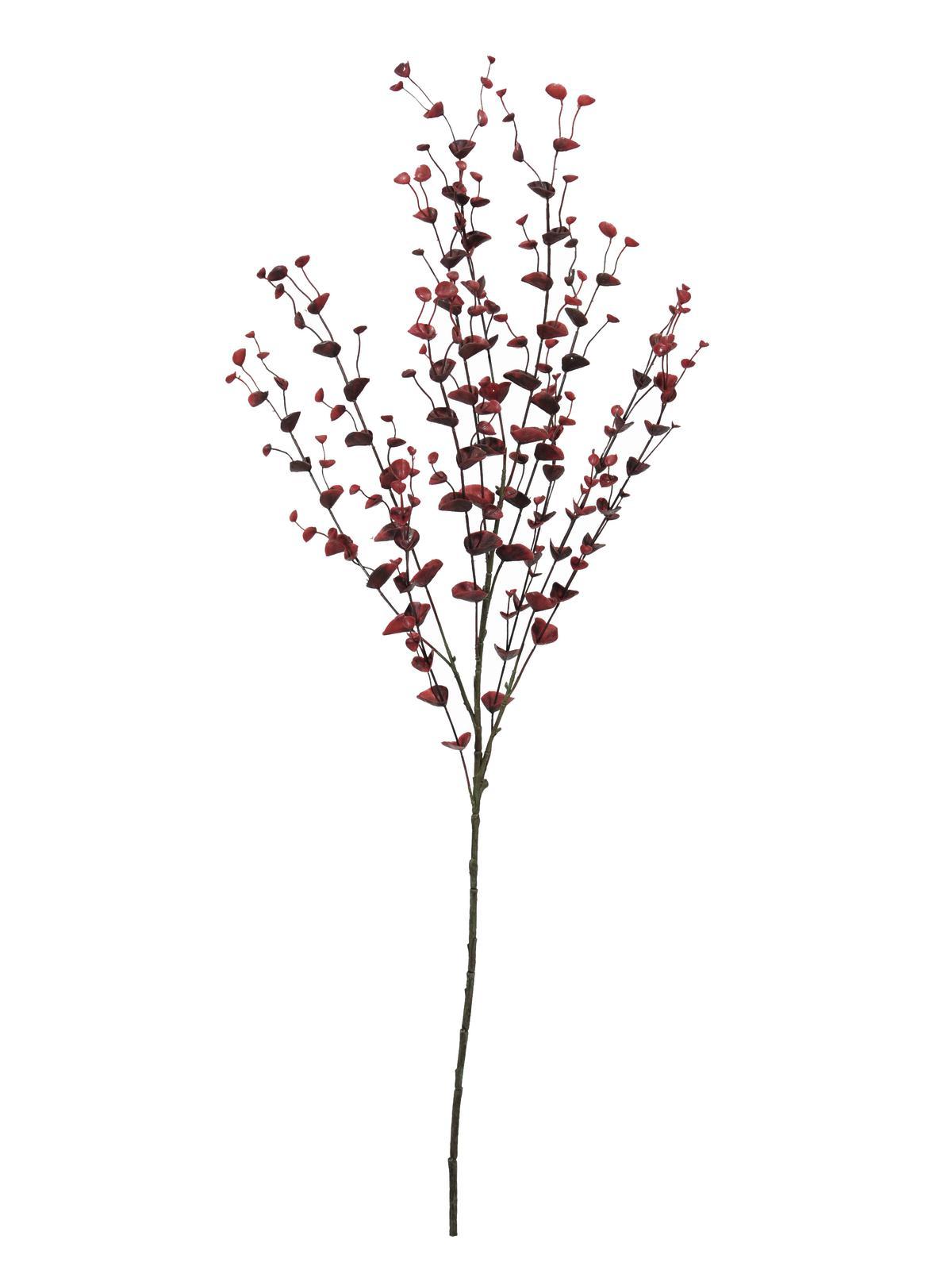 Billede af Kunstig Eucalyptus spray, red, 110cm