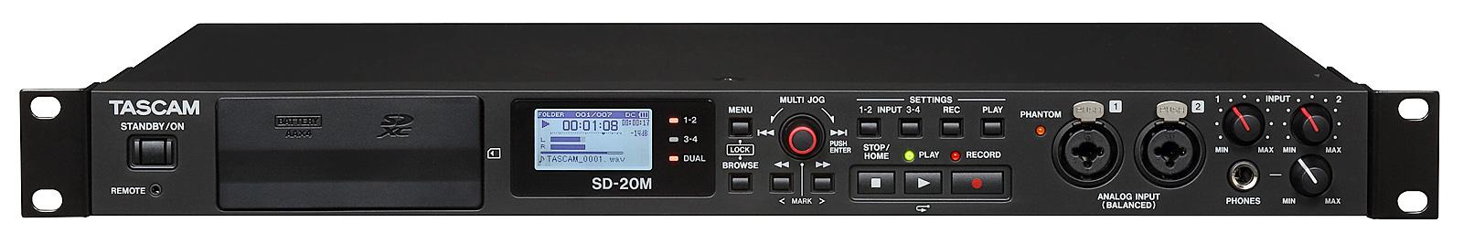 Billede af Tascam SD-20M harddisk audio recorder