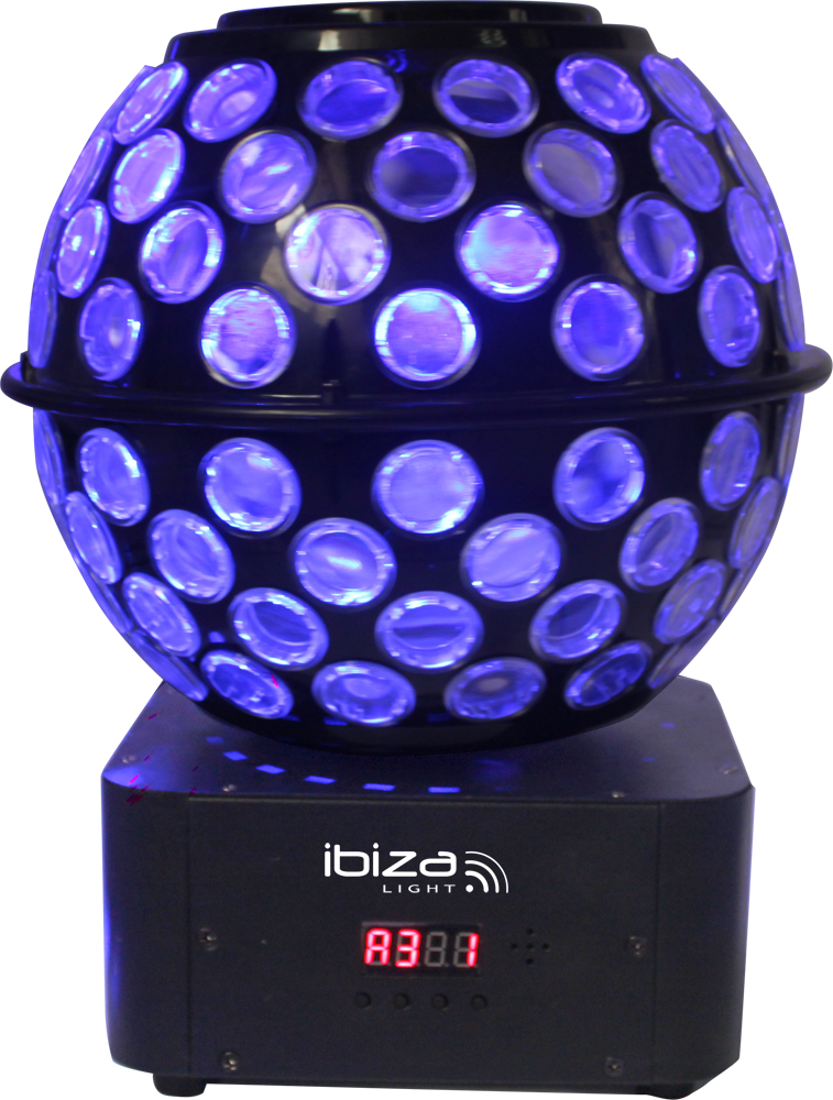 Billede af Ibiza LED diskokugle RGBW