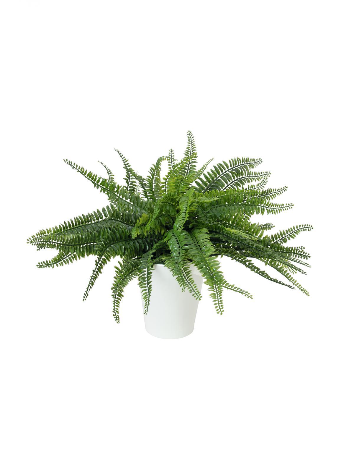 Billede af Kunstig Fern bush in pot, 62 leaves, 48cm