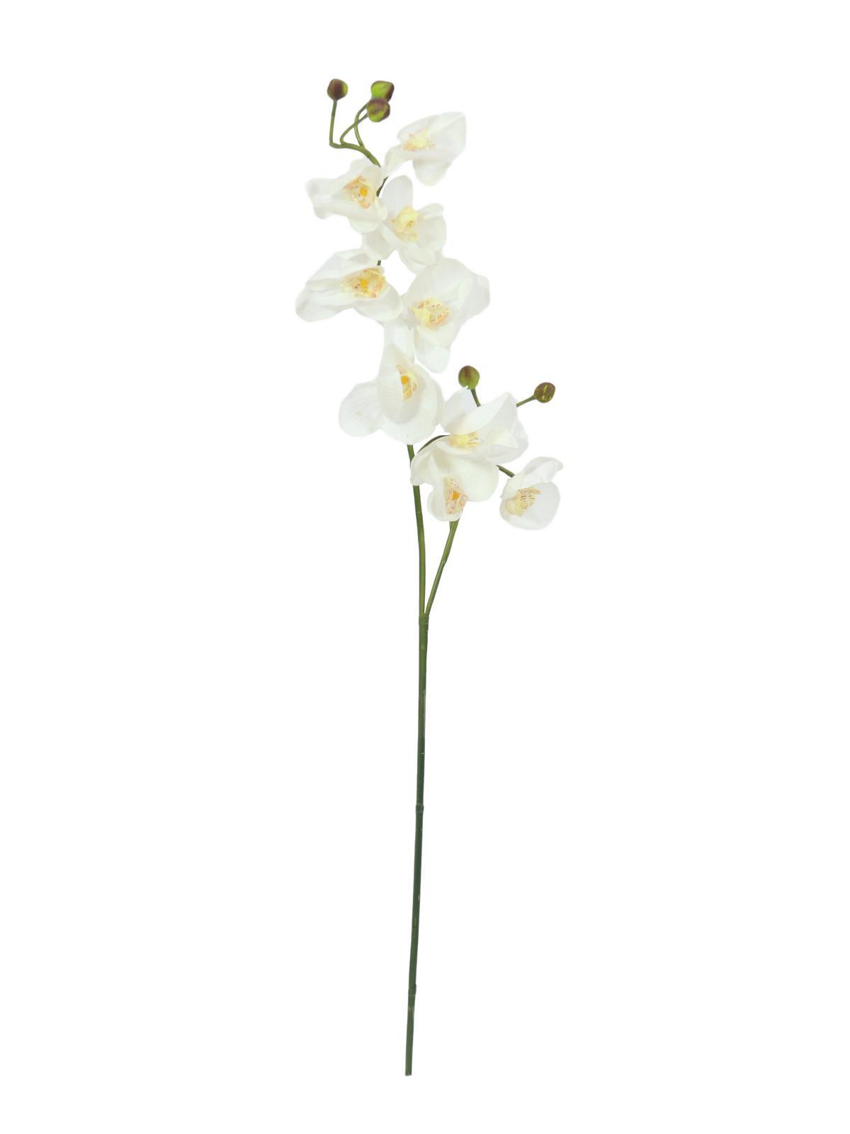 Billede af Kunstig Orchidspray, cream-white, 100cm